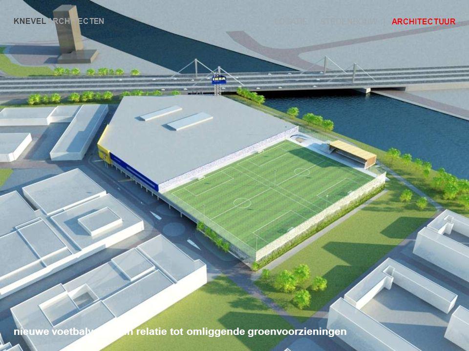 nieuwe voetbalvelden in relatie tot omliggende groenvoorzieningen