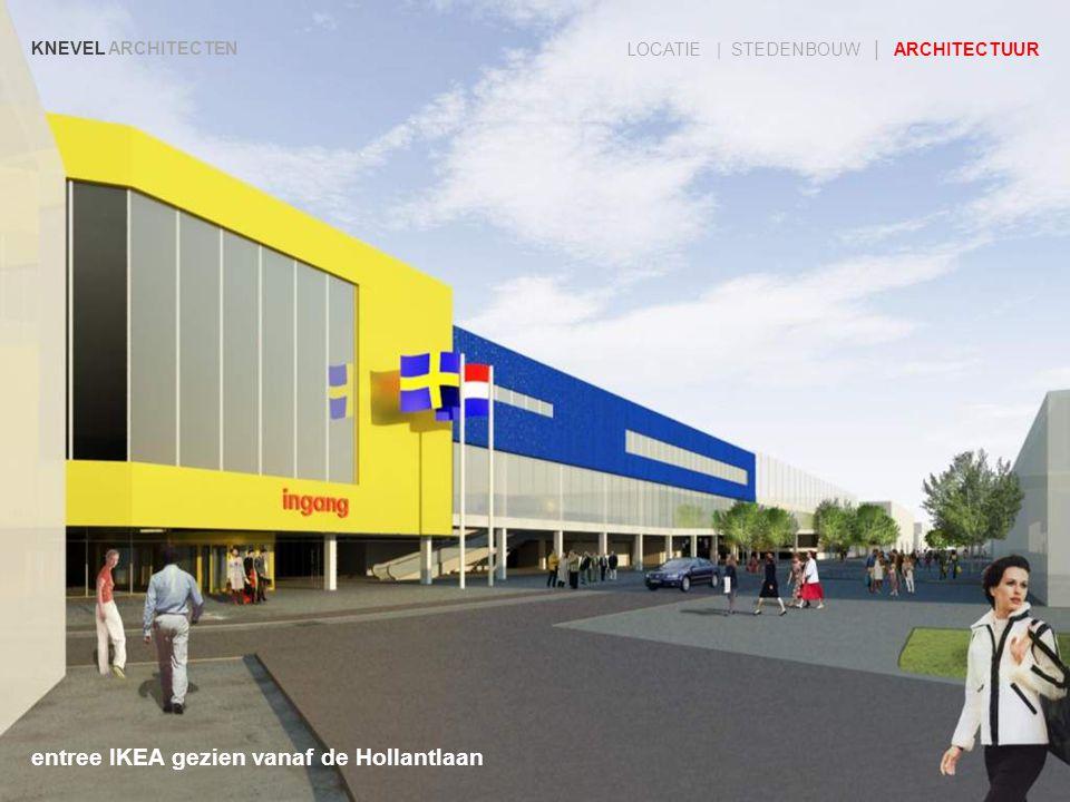 entree IKEA gezien vanaf de Hollantlaan