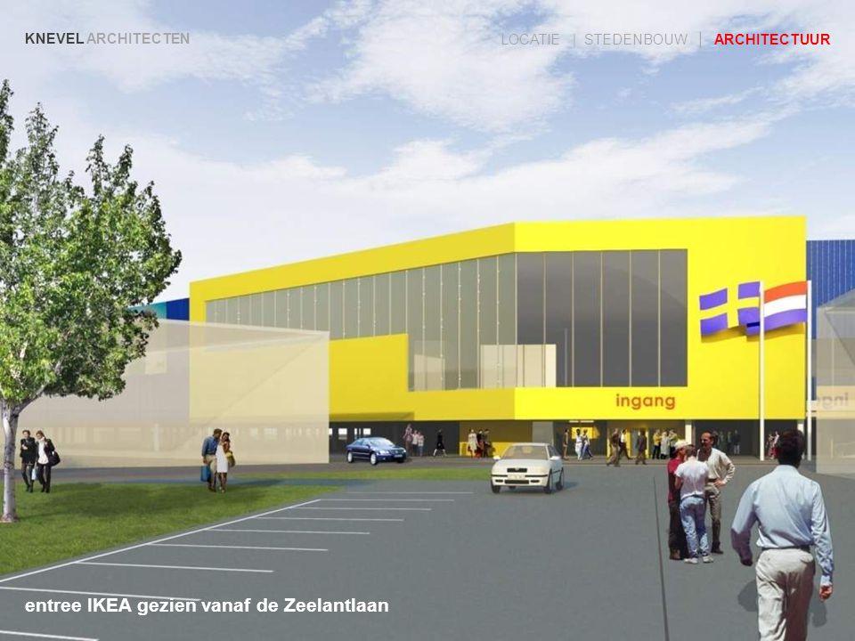 entree IKEA gezien vanaf de Zeelantlaan