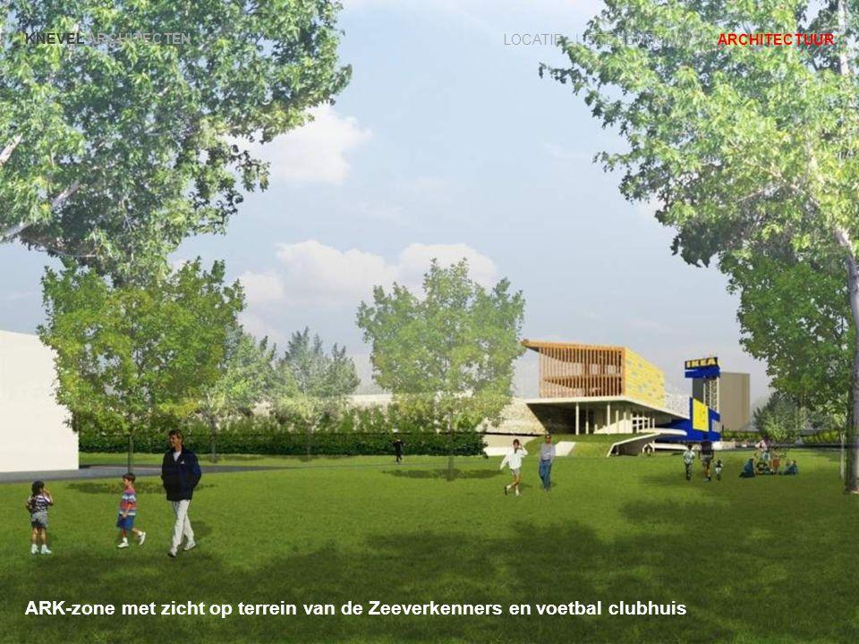ARK-zone met zicht op terrein van de Zeeverkenners en voetbal clubhuis