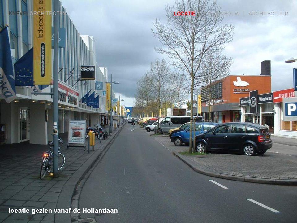 locatie gezien vanaf de Hollantlaan