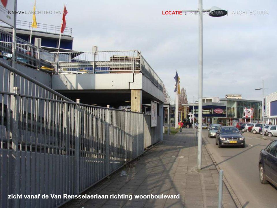 zicht vanaf de Van Rensselaerlaan richting woonboulevard