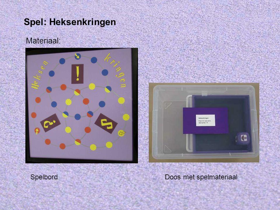 Spel: Heksenkringen Materiaal: Spelbord Doos met spelmateriaal