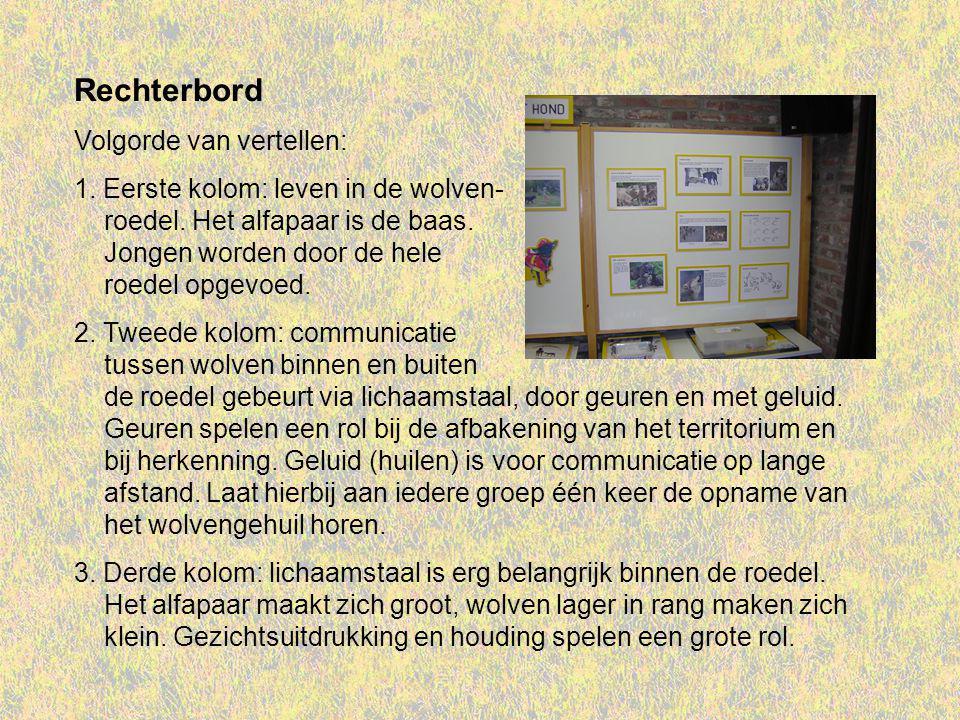 Rechterbord Volgorde van vertellen: