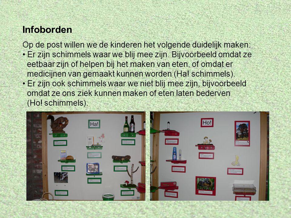 Infoborden Op de post willen we de kinderen het volgende duidelijk maken: