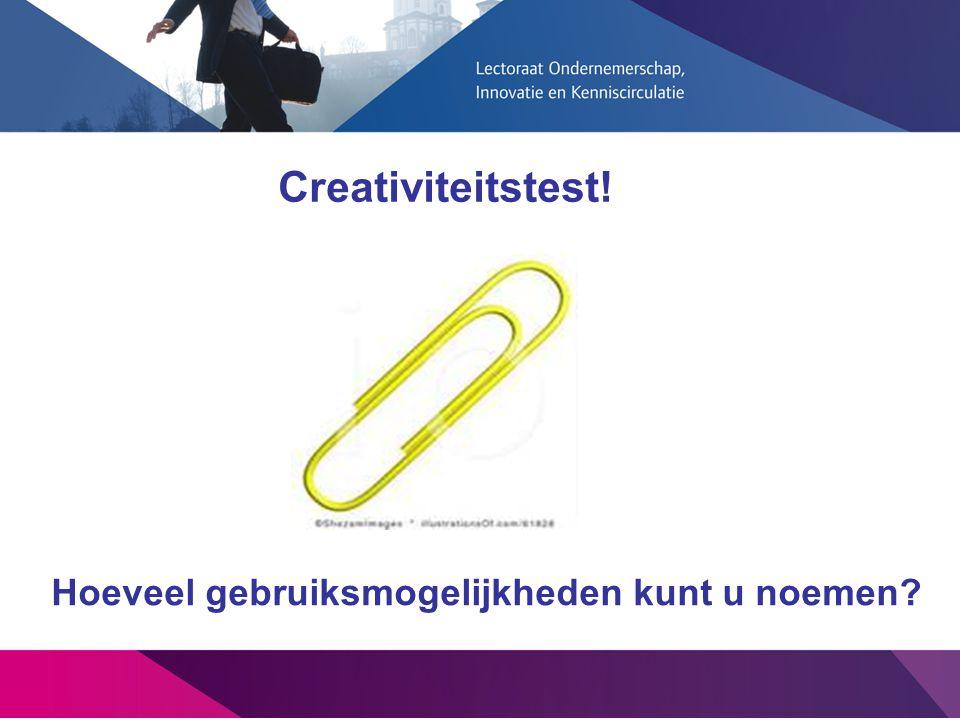 Creativiteitstest! Hoeveel gebruiksmogelijkheden kunt u noemen