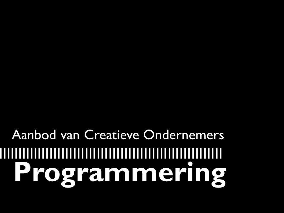 Aanbod van Creatieve Ondernemers