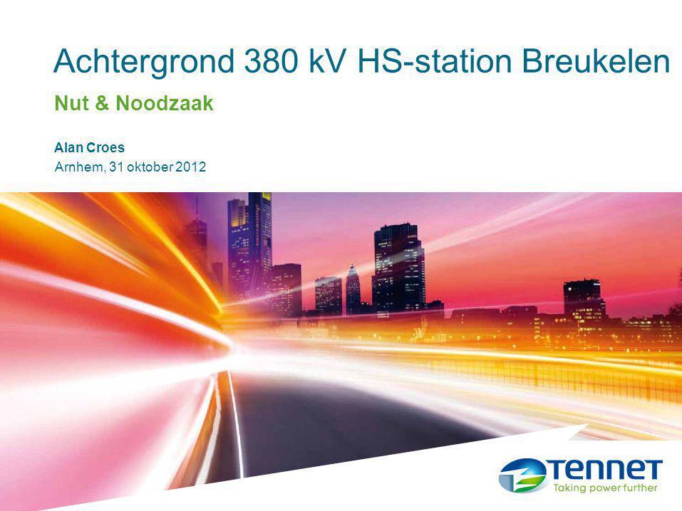 Achtergrond 380 kV HS-station Breukelen