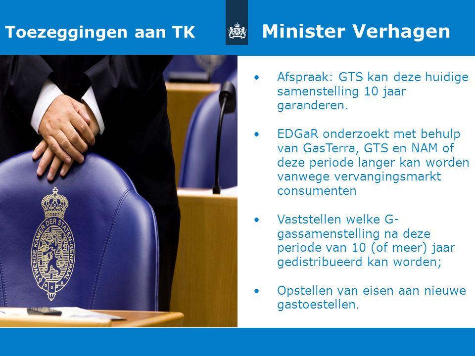 Toezeggingen aan TK Minister Verhagen