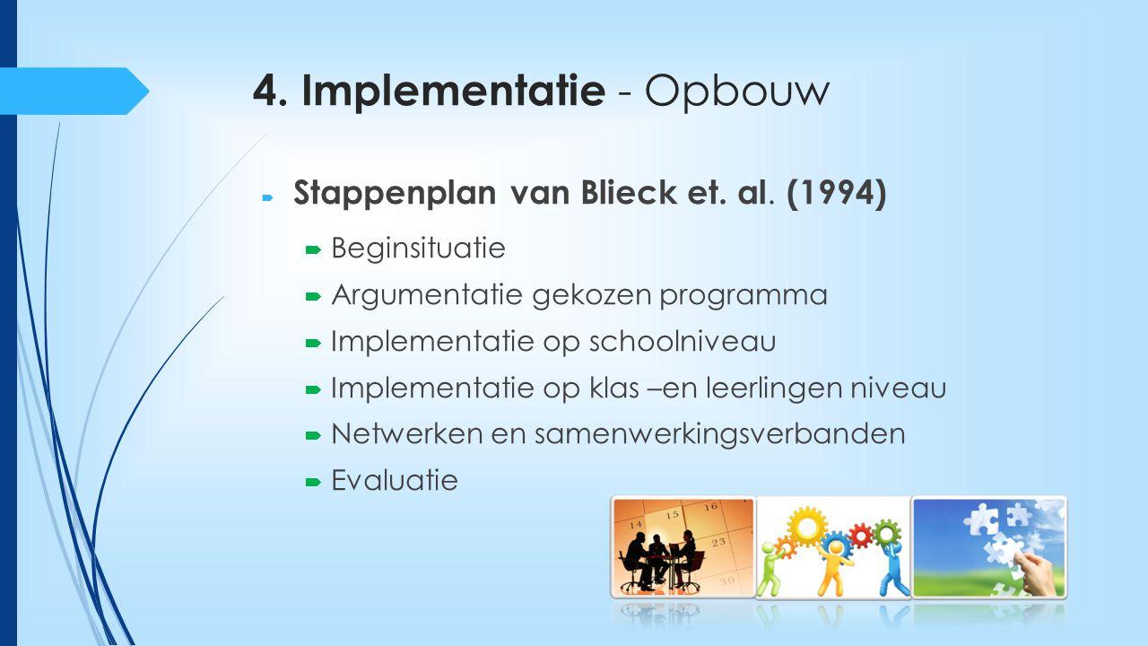 4. Implementatie - Opbouw