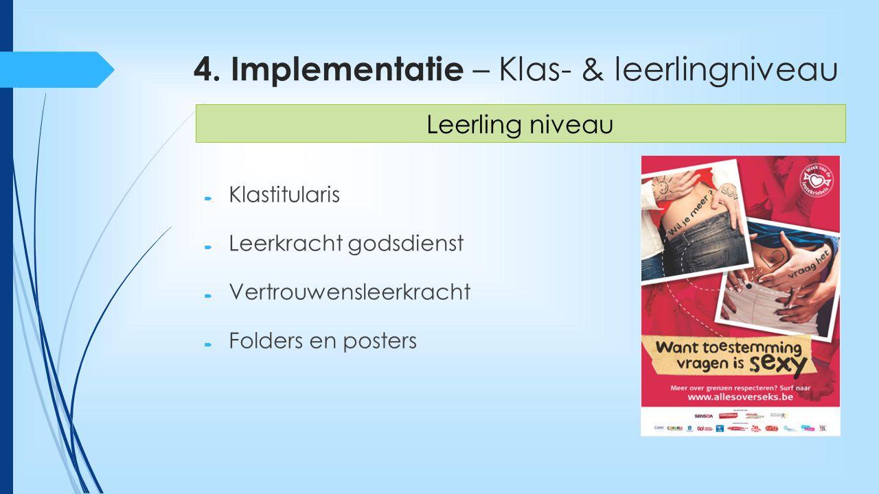 4. Implementatie – Klas- & leerlingniveau