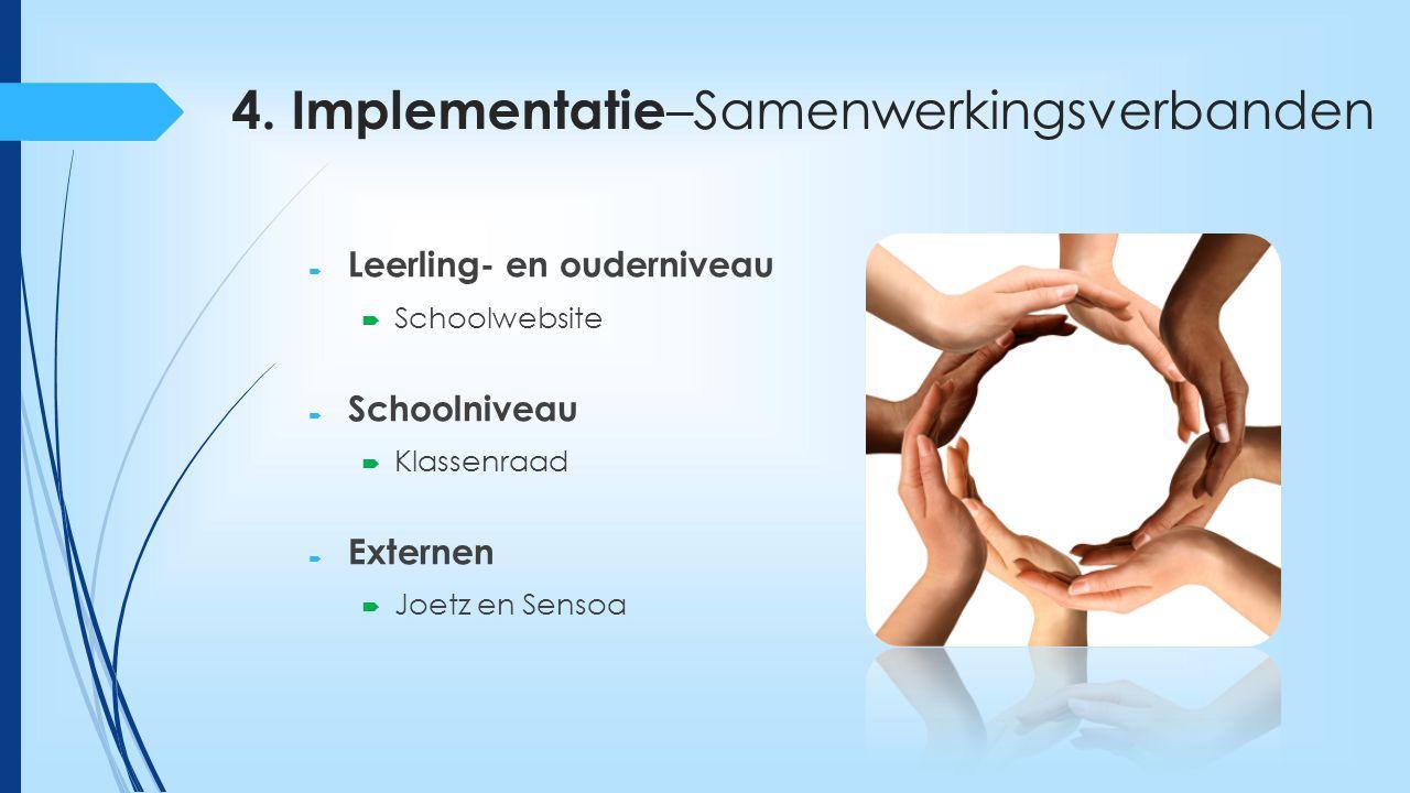 4. Implementatie–Samenwerkingsverbanden