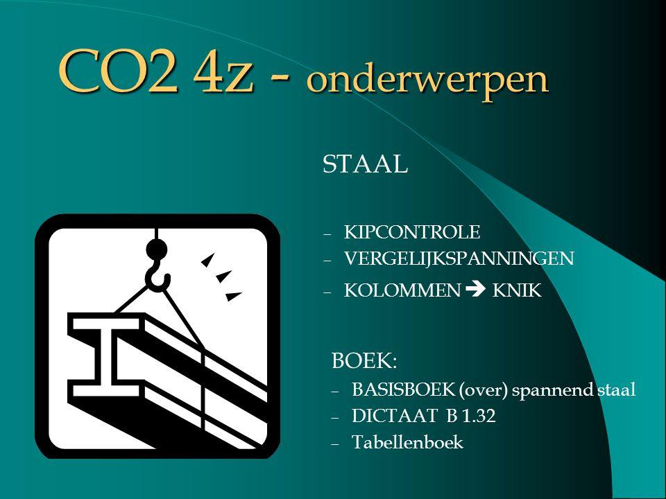 CO2 4z - onderwerpen STAAL BOEK: KIPCONTROLE VERGELIJKSPANNINGEN