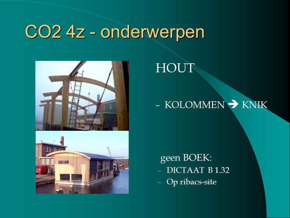 CO2 4z - onderwerpen HOUT KOLOMMEN  KNIK geen BOEK: DICTAAT B 1.32