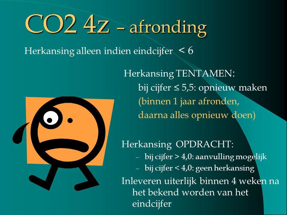 CO2 4z – afronding Herkansing alleen indien eindcijfer < 6