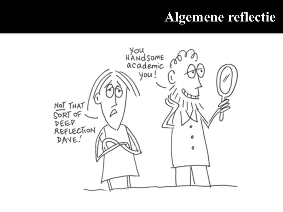 Algemene reflectie dries