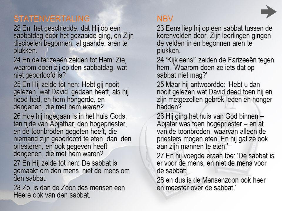 28 Zo is dan de Zoon des mensen een Heere ook van den sabbat. NBV