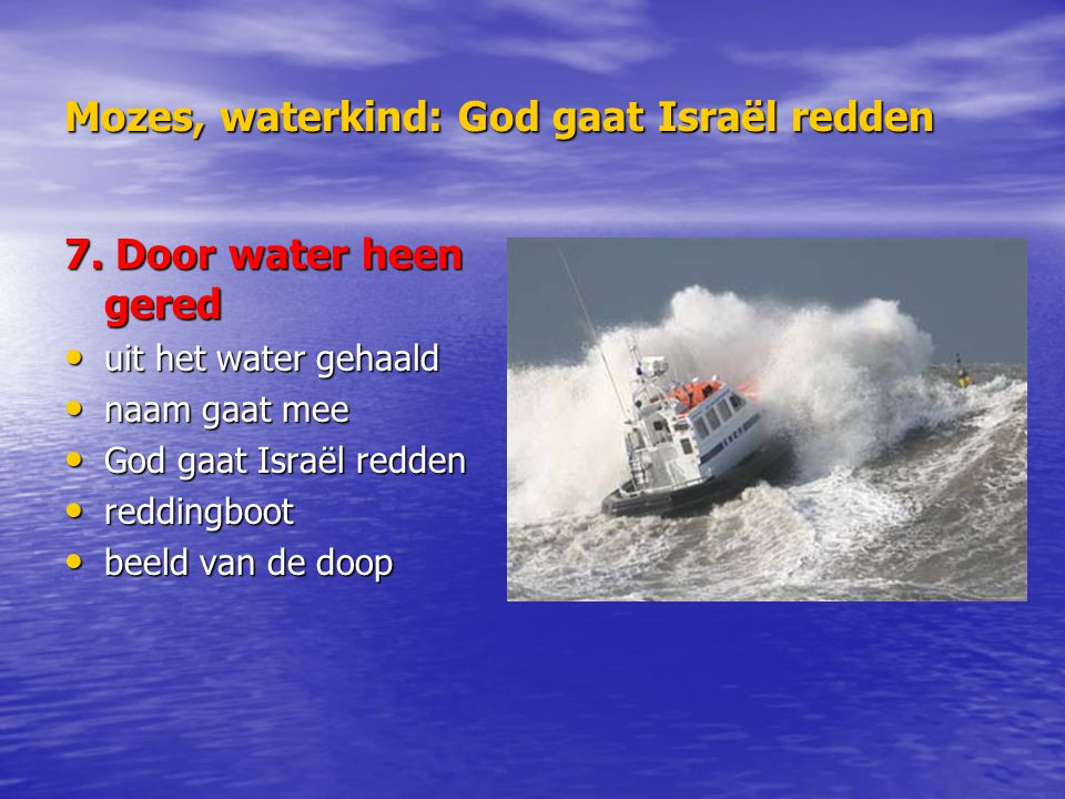 Mozes, waterkind: God gaat Israël redden