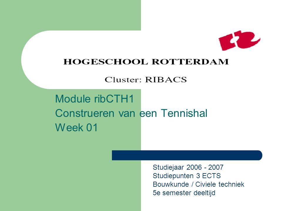 Module ribCTH1 Construeren van een Tennishal Week 01
