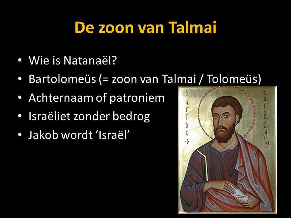 De zoon van Talmai Wie is Natanaël
