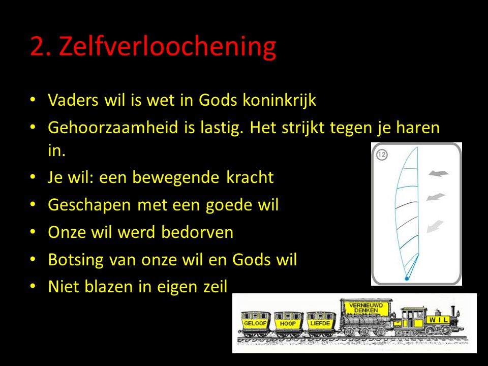 2. Zelfverloochening Vaders wil is wet in Gods koninkrijk