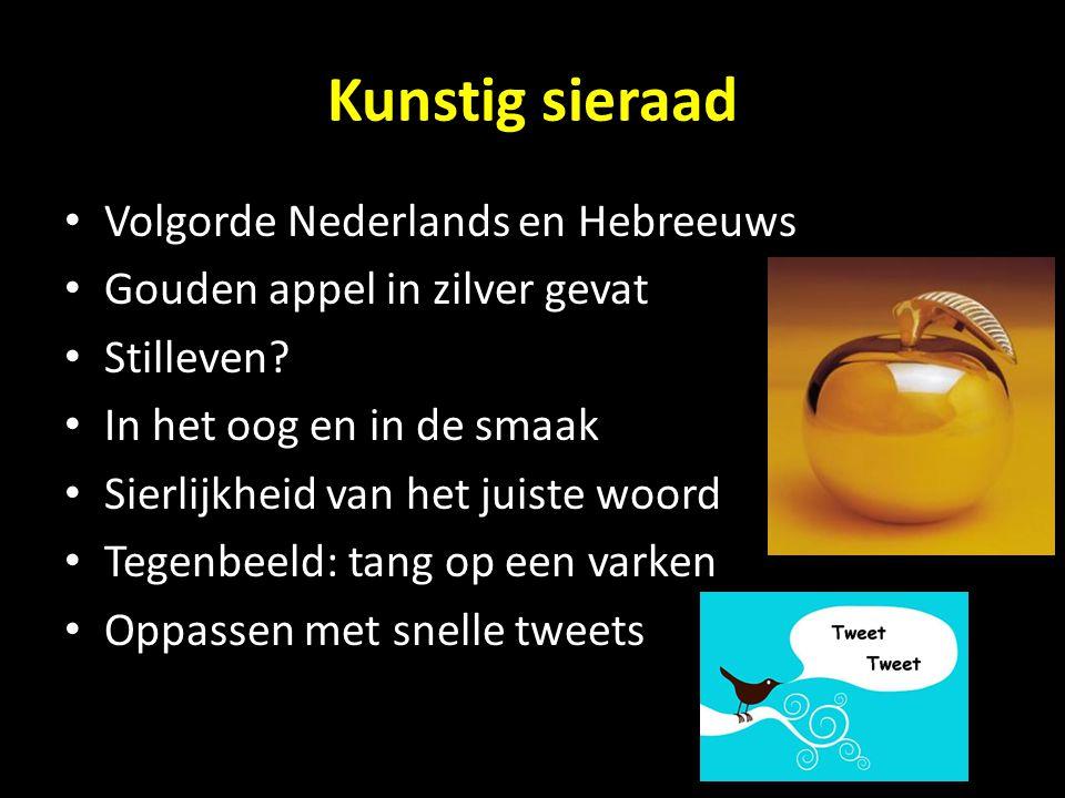 Kunstig sieraad Volgorde Nederlands en Hebreeuws