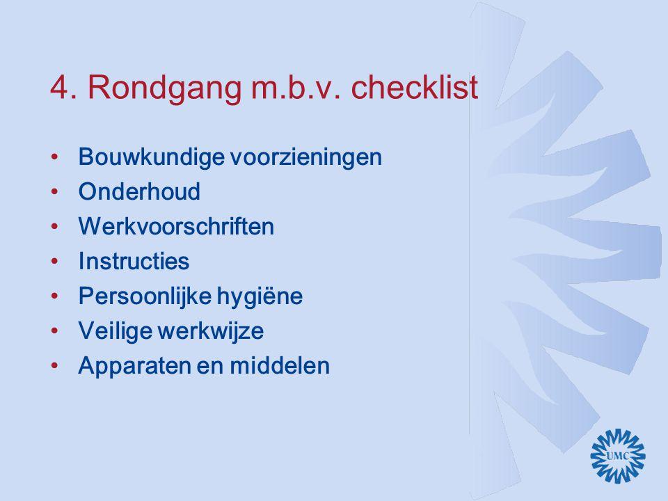 4. Rondgang m.b.v. checklist