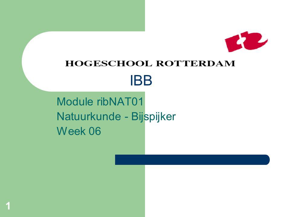 Module ribNAT01 Natuurkunde - Bijspijker Week 06