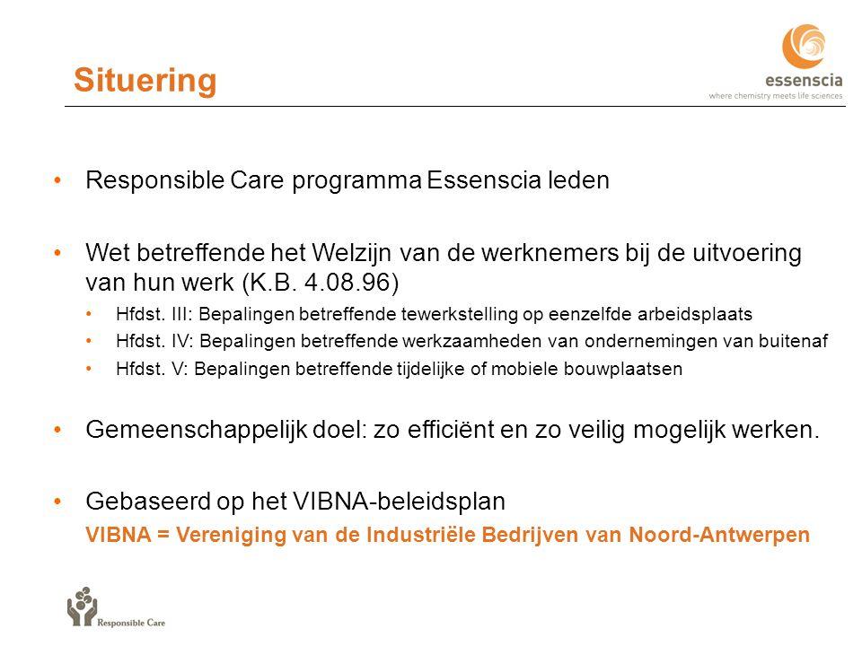 Situering Responsible Care programma Essenscia leden