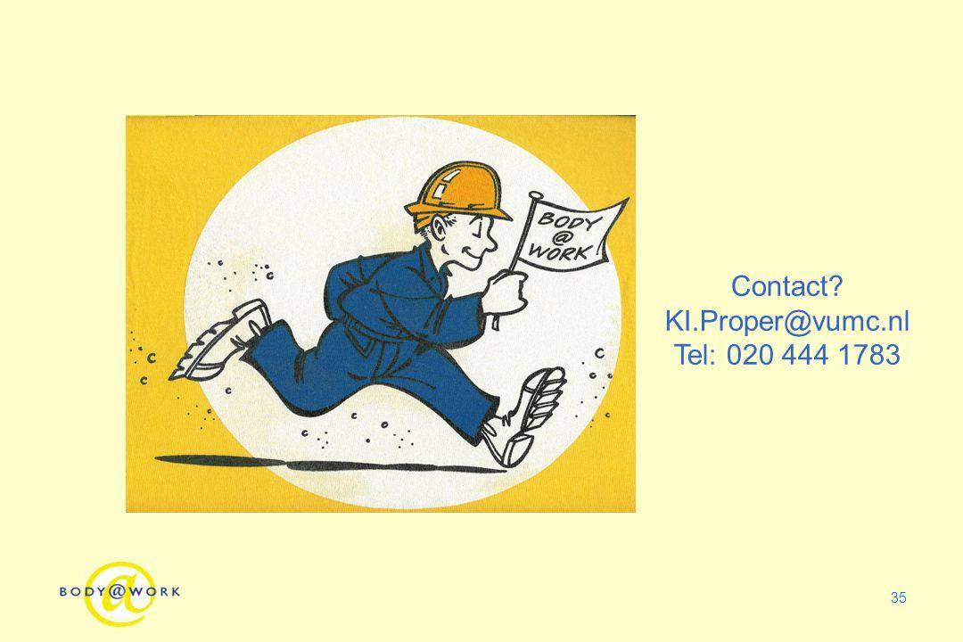 Contact KI.Proper@vumc.nl Tel: 020 444 1783