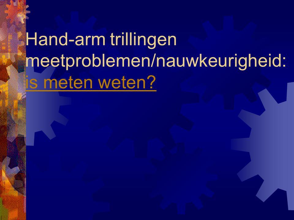 Hand-arm trillingen meetproblemen/nauwkeurigheid: is meten weten