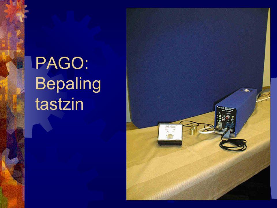 PAGO: Bepaling tastzin