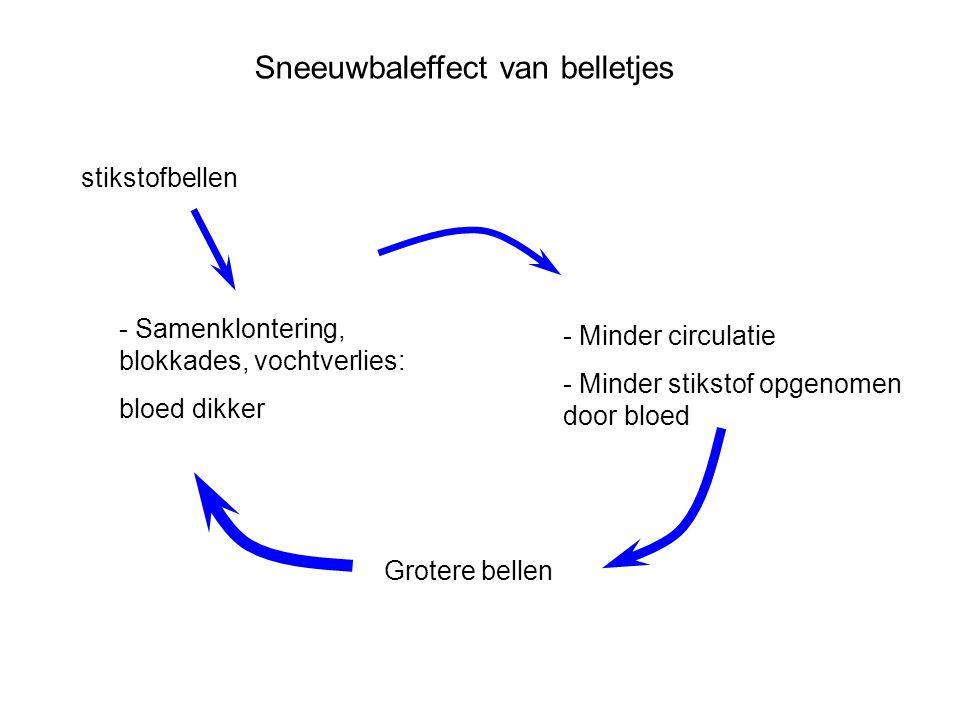 Sneeuwbaleffect van belletjes