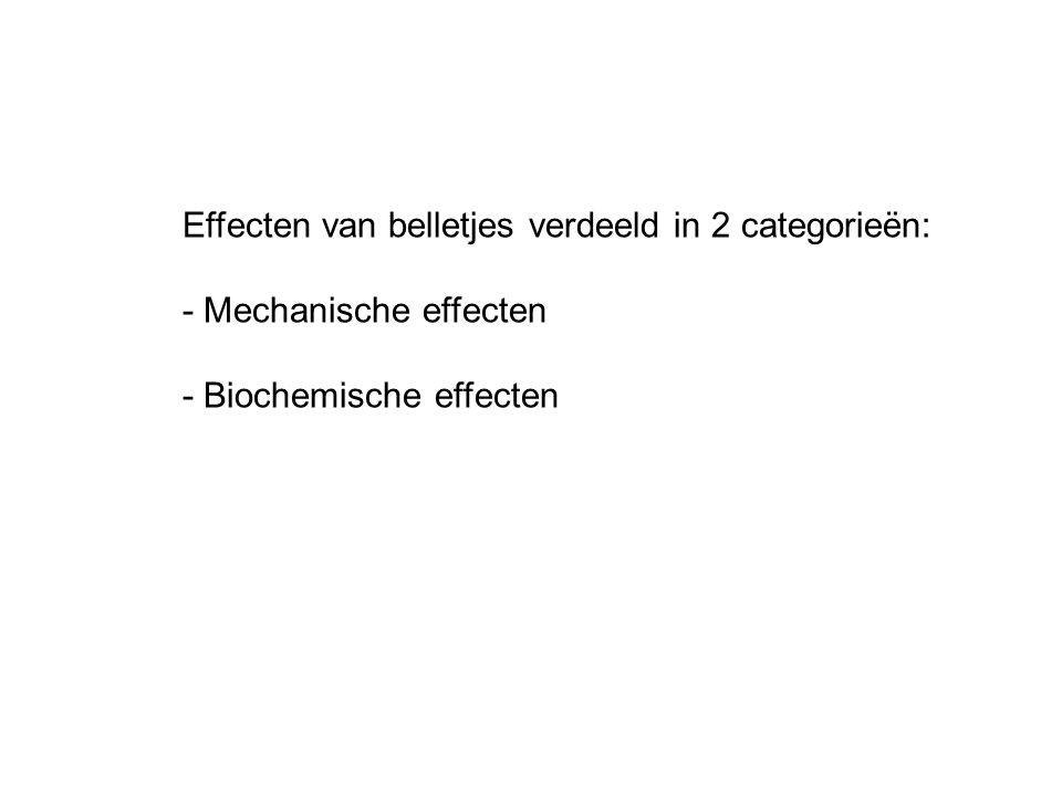 Effecten van belletjes verdeeld in 2 categorieën:
