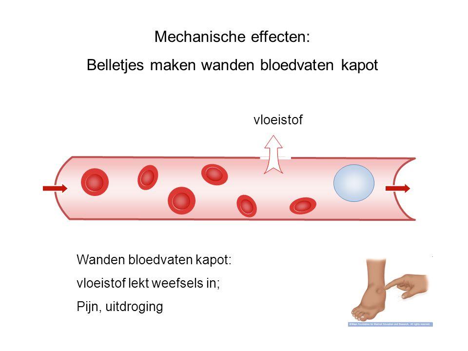 Mechanische effecten: Belletjes maken wanden bloedvaten kapot