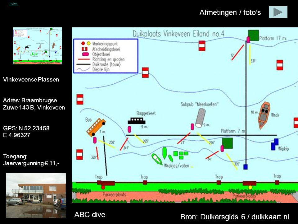 Vinkeveense Plassen Afmetingen / foto's ABC dive