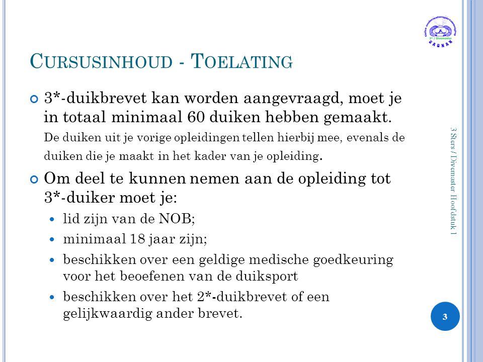 Cursusinhoud - Toelating