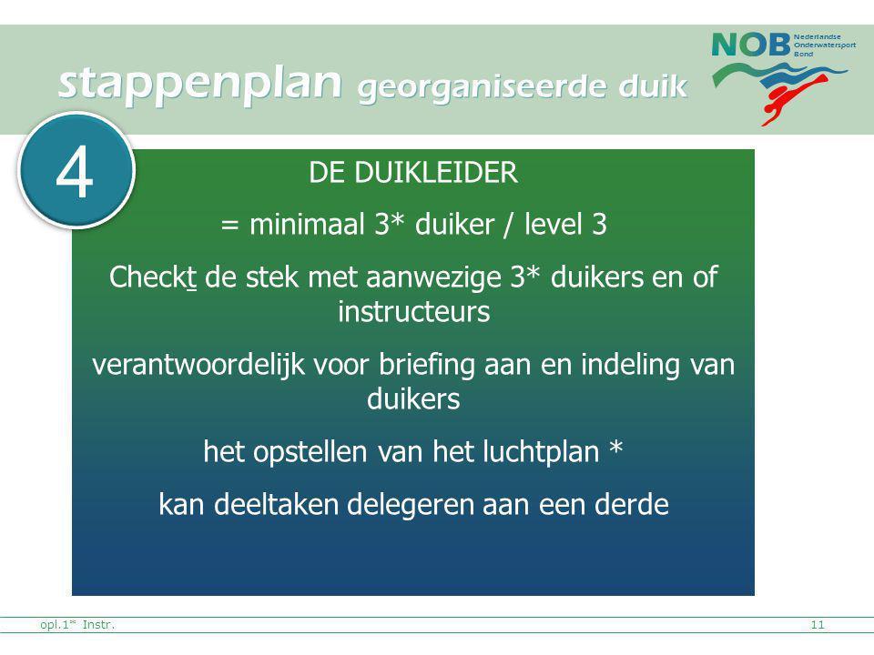 stappenplan georganiseerde duik