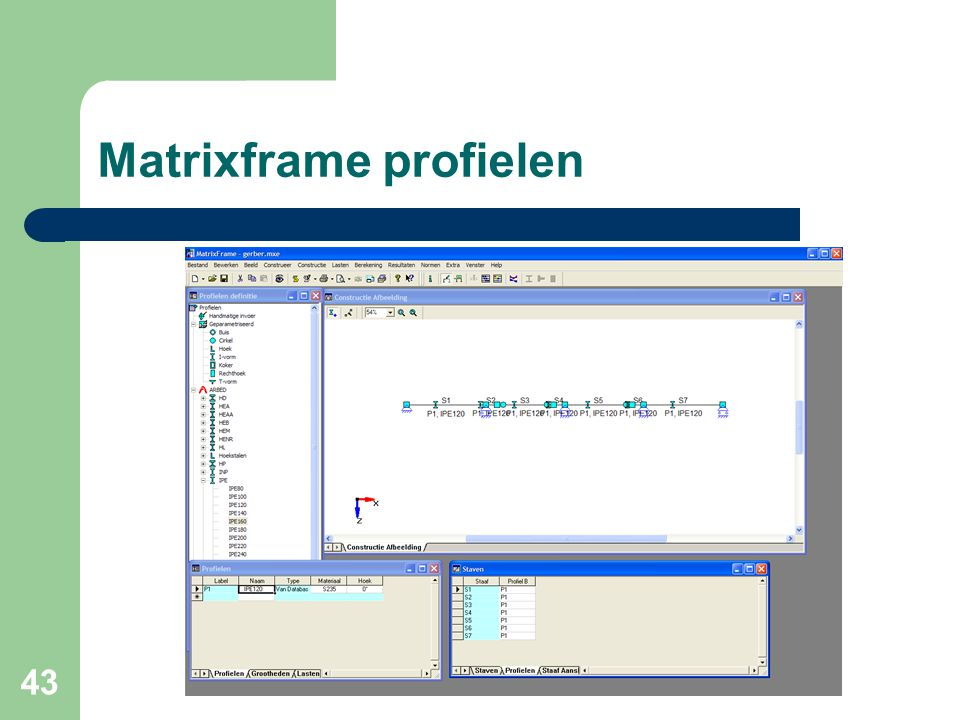 Matrixframe profielen