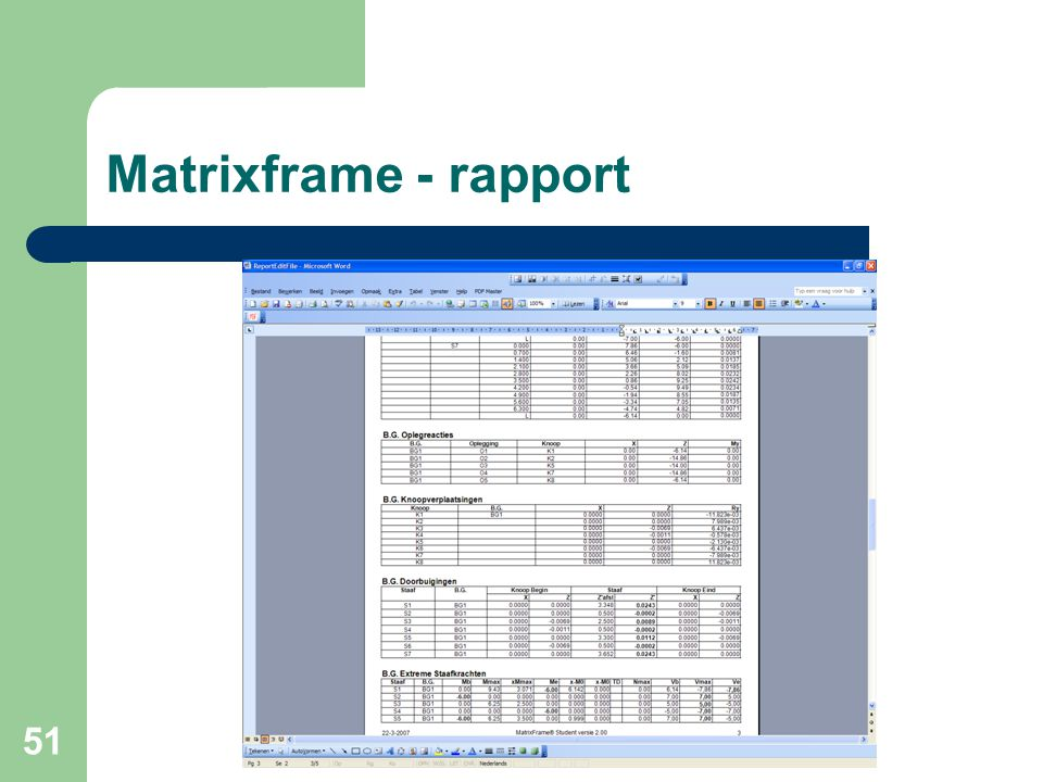 Matrixframe - rapport