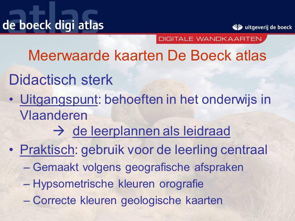 Meerwaarde kaarten De Boeck atlas