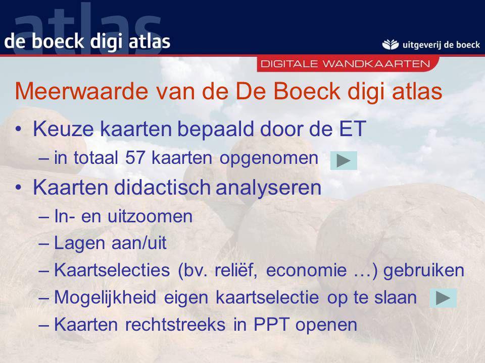 Meerwaarde van de De Boeck digi atlas