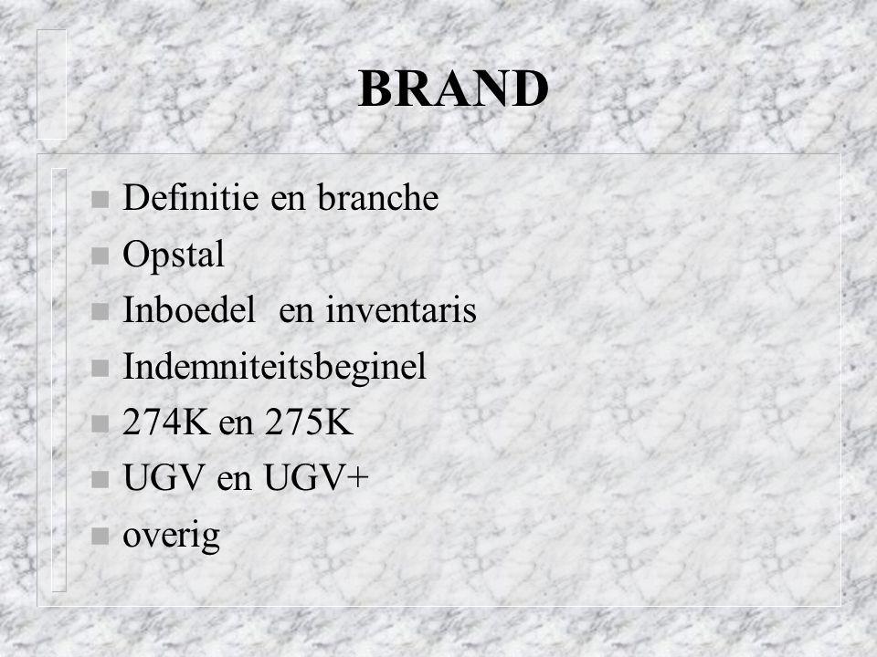 BRAND Definitie en branche Opstal Inboedel en inventaris
