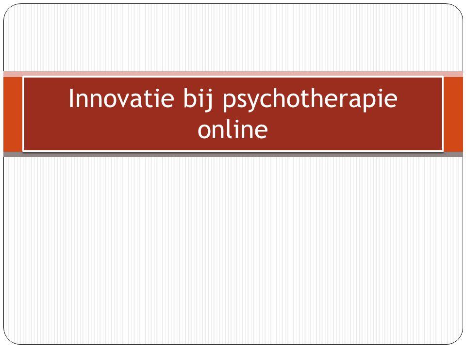 Innovatie bij psychotherapie online