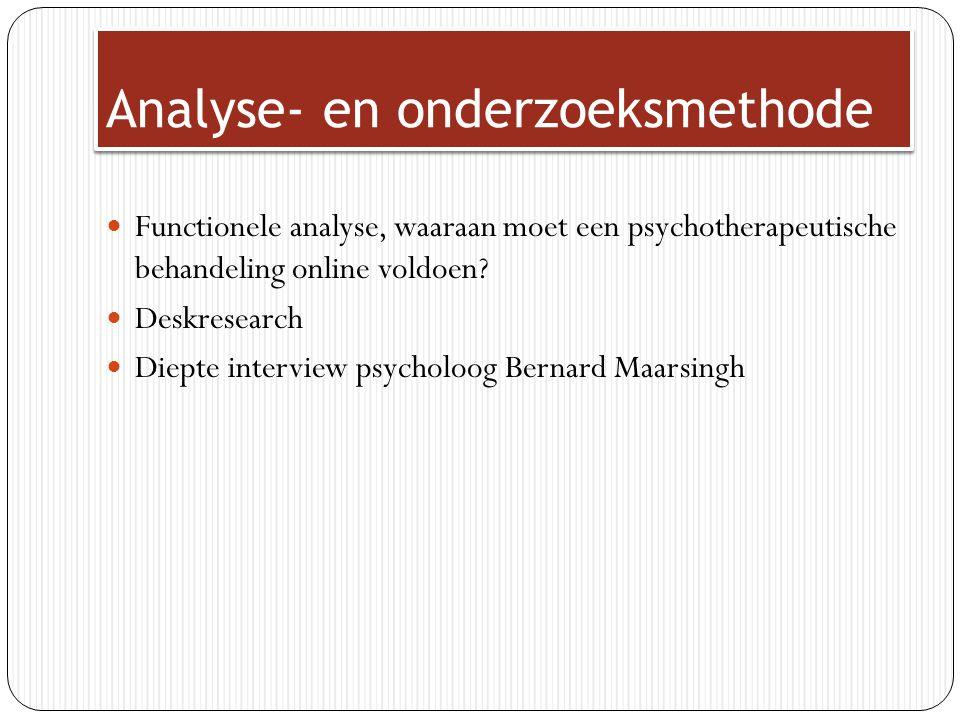 Analyse- en onderzoeksmethode