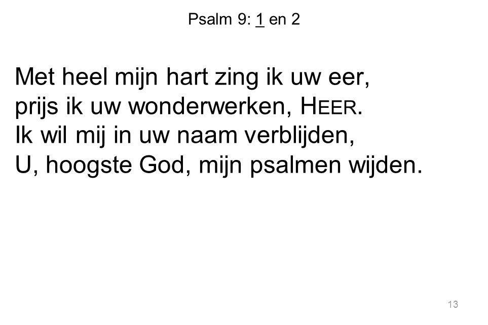 Psalm 9: 1 en 2
