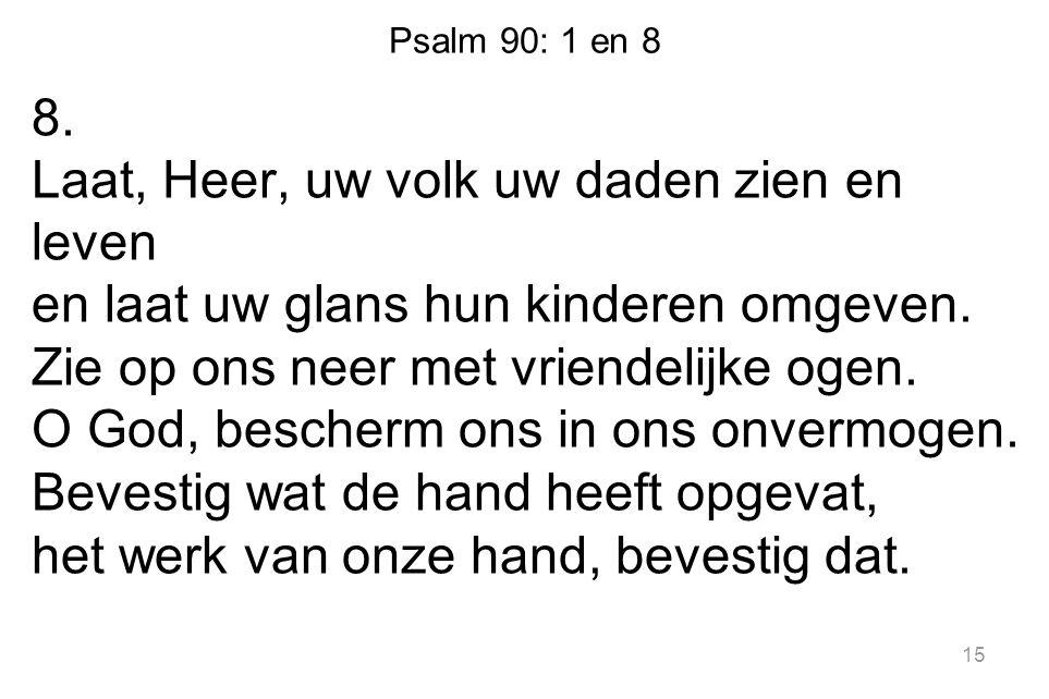 Psalm 90: 1 en 8