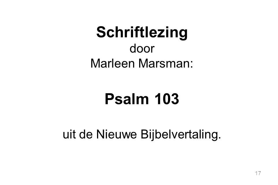 uit de Nieuwe Bijbelvertaling.