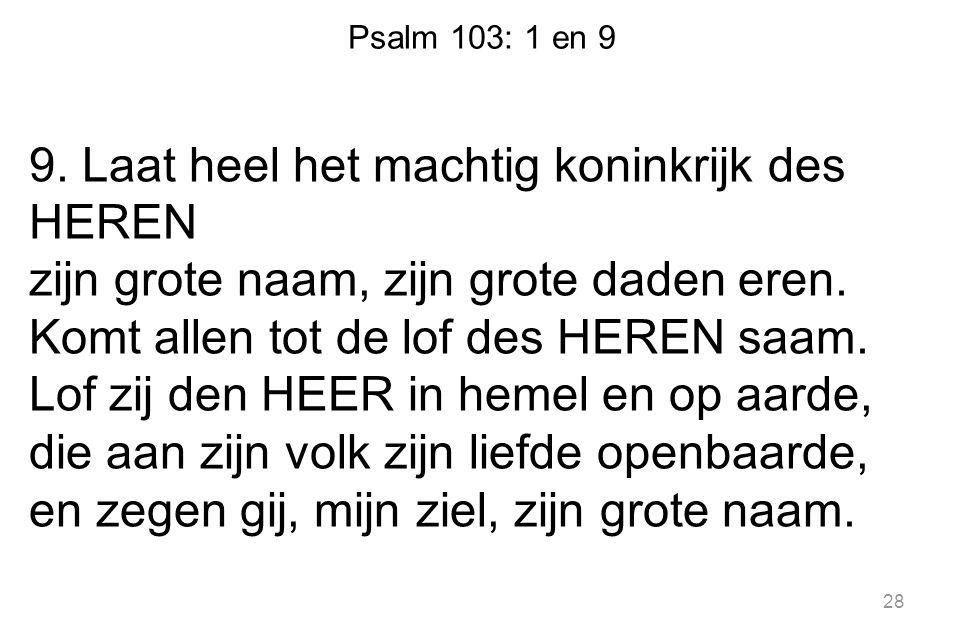 Psalm 103: 1 en 9