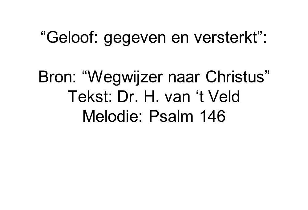 Geloof: gegeven en versterkt : Bron: Wegwijzer naar Christus
